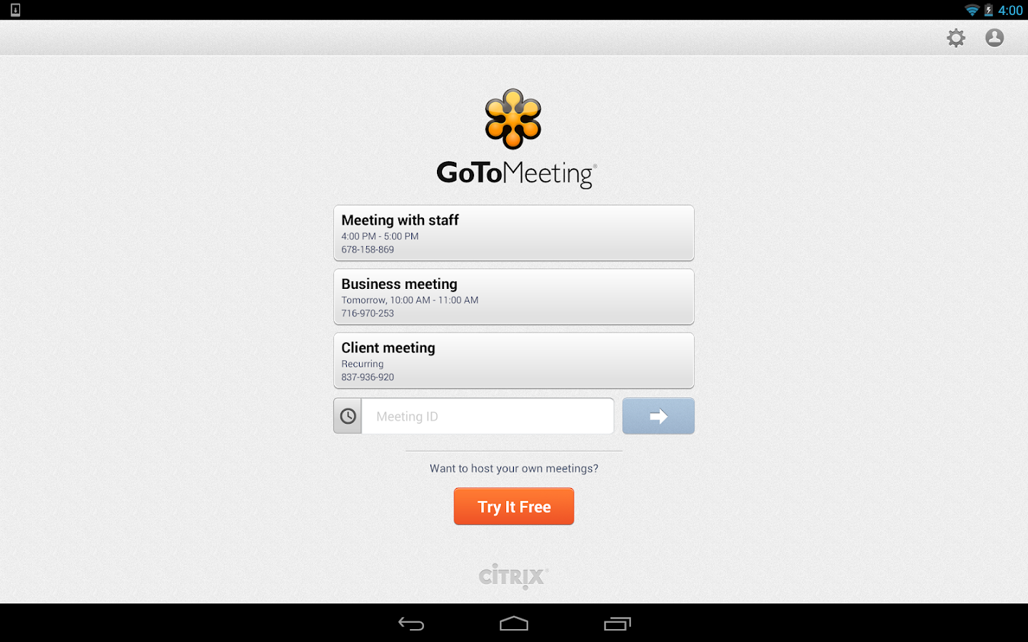 GoToMeeting - screenshot