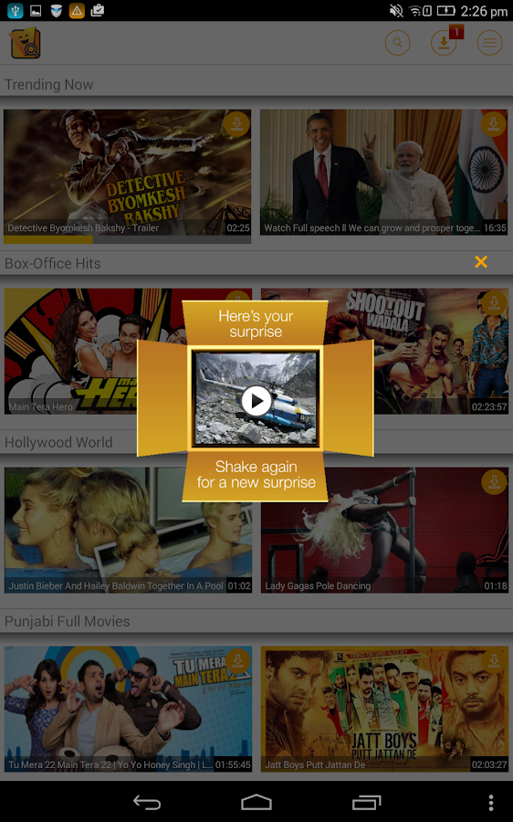 Vuclip Search: Video on Mobile - screenshot