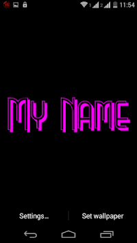 My Name 3D Live Wallpaper Poster