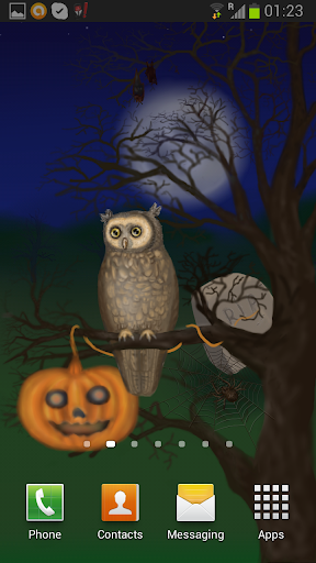 Halloween Owl Live Wallpaper