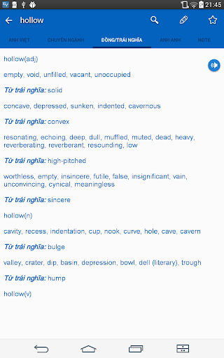 English Vietnamese Dictionary TFlat 6.8.5 screenshots 11