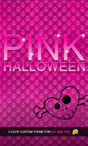 Pink Halloween Go SMS Theme