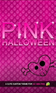 Pink Halloween Go SMS Theme - screenshot thumbnail