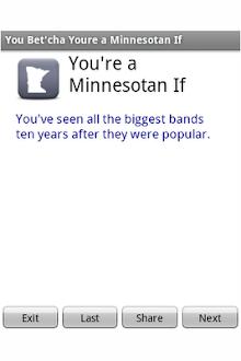 You're a Minnesotan if...