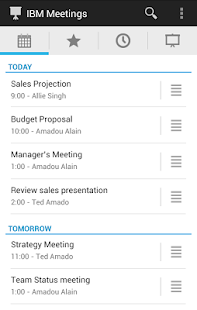 IBM Connections Meetings - screenshot thumbnail