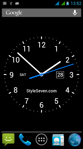 Download Analog Clock Live Wallpaper-7 Google Play softwares