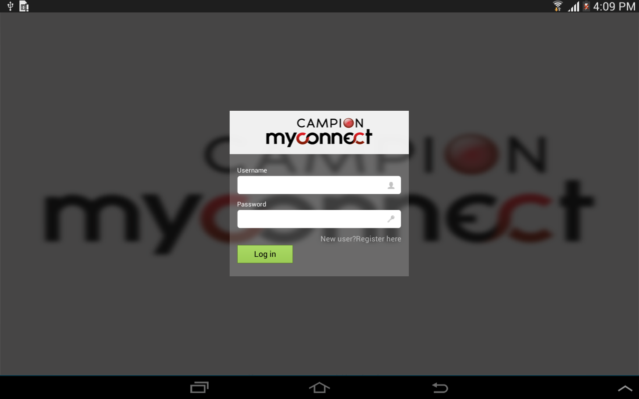 Campion myconnect- screenshot