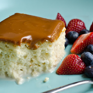 Tres Leches Cake with Dulce de Leche Glaze