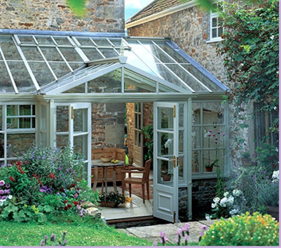 A Typical Conservatory In The English Countryside Attached To Main House This Is Used For Casual Dining
