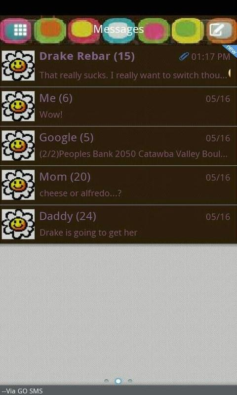 GO SMS THEME/retrosquares - screenshot
