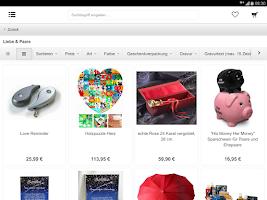 Screenshot of Geschenke Geschenkideen