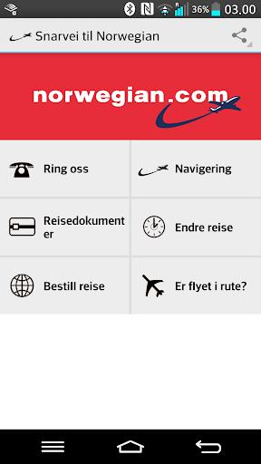 Snarvei til Norwegian.no