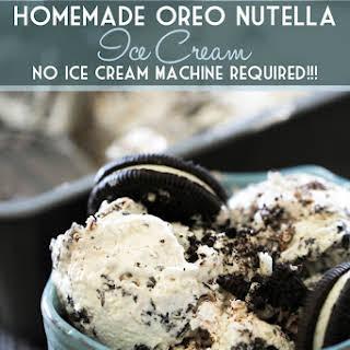 Homemade Oreo Nutella Ice Cream.