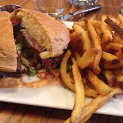Lamb burger on UDIS bun