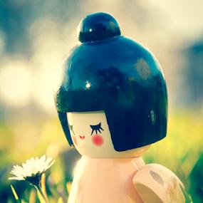 Geisha by Luana Racan - Typography Quotes & Sentences ( geisha doll sentences memoirs cute small flower grass green )