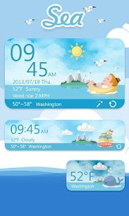 Sea Free Theme GO Weather EX - screenshot thumbnail