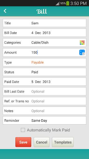 玩免費商業APP|下載Bills Tracker - BillsOnMobile app不用錢|硬是要APP