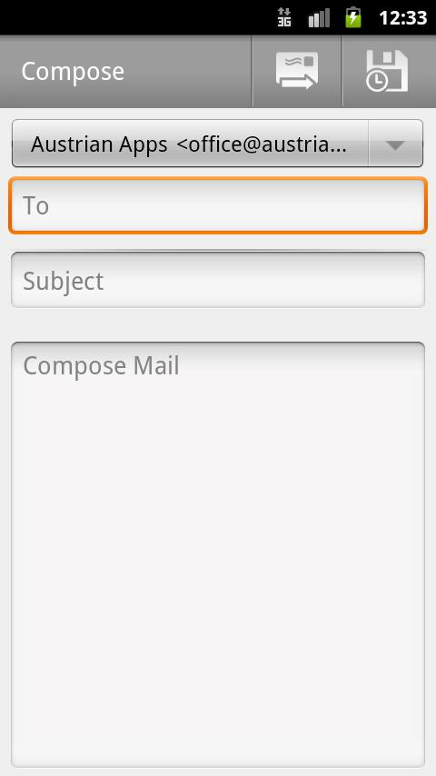 Compose Mail Shortcut - screenshot