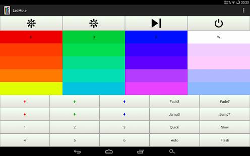 ledmote led fernbedienung applications sur google play. Black Bedroom Furniture Sets. Home Design Ideas