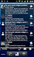 Screenshot of Pure messenger widget