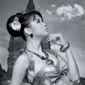 Ellaa by Benaya Agung - People Portraits of Women ( temple, potrait, fashion, bw, women, heritage )
