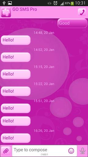 GO短信加强版粉红泡泡糖