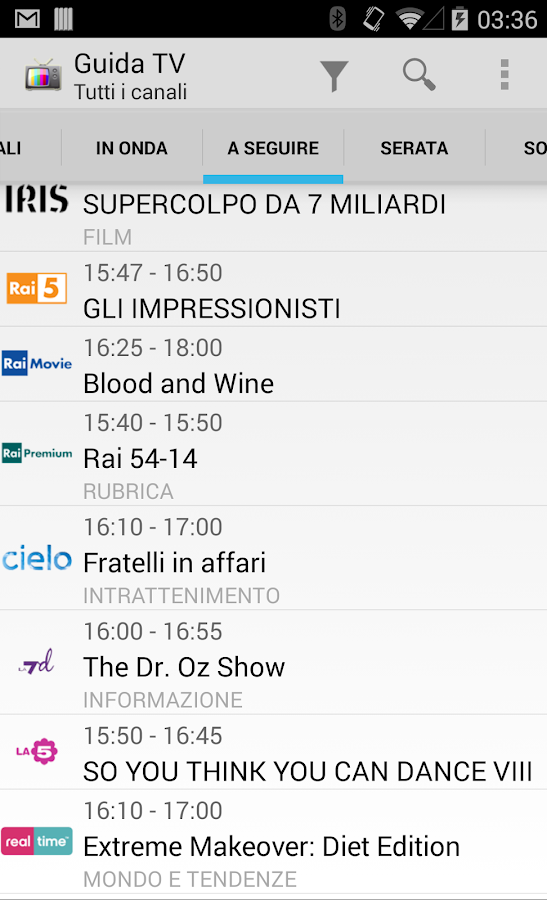 TV Guide Italy FREE - screenshot