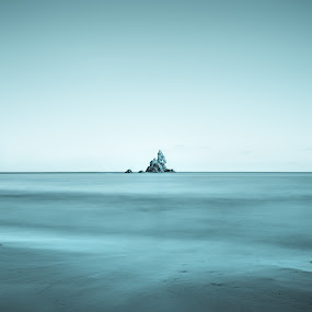 Church Rock IceBurg by Sean Lowe - Landscapes Waterscapes