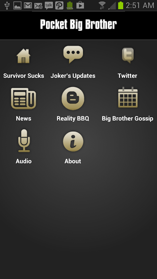 Pocket Big Brother Pro - screenshot