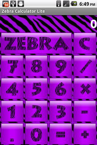 Purple Zebra Secret Diary WDP - screenshot