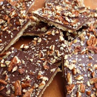 Chocolate Toffee Matzo Crack.