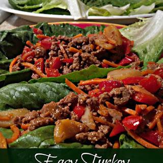 Easy Turkey Lettuce Wraps.