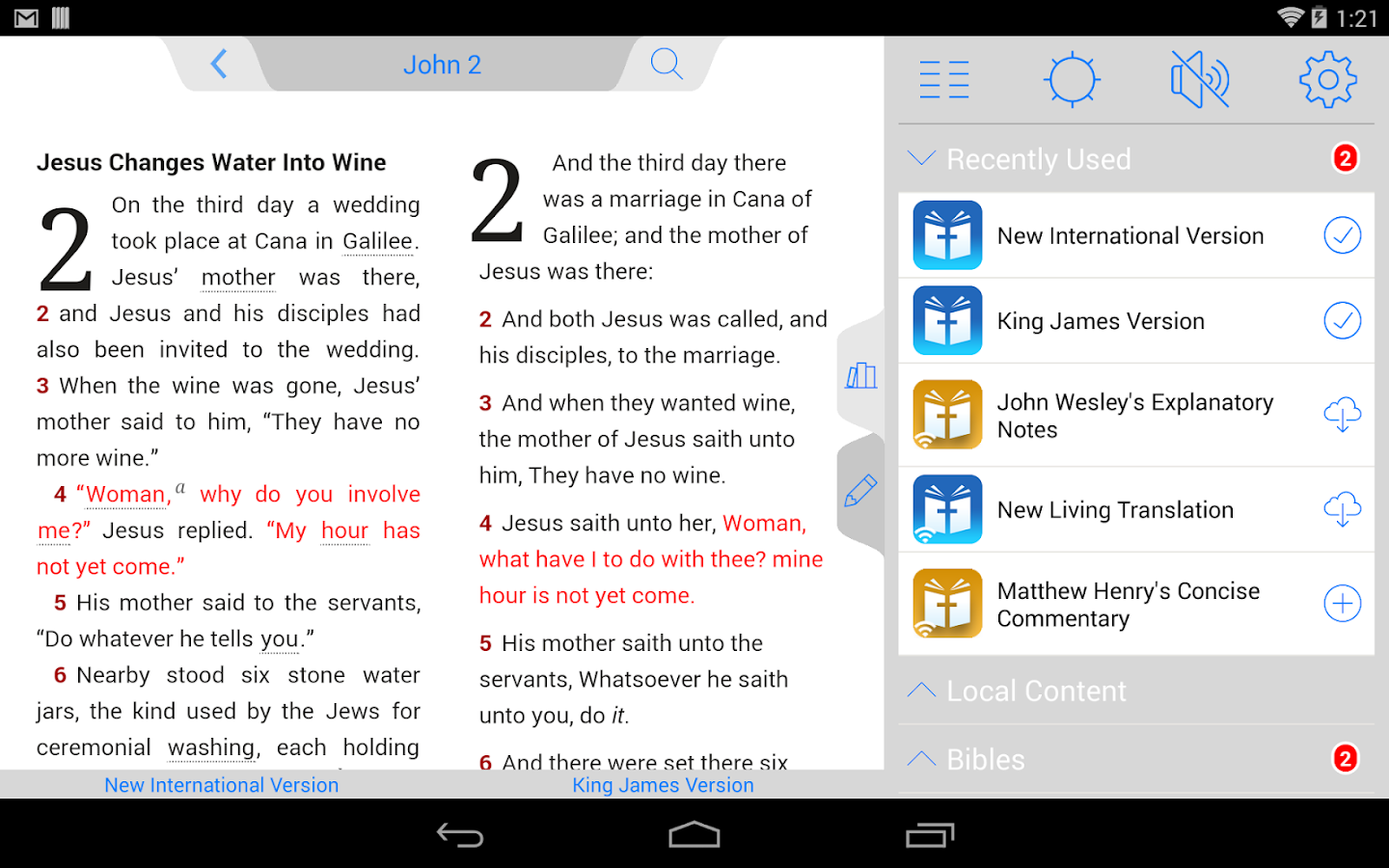 KJV Bible - screenshot