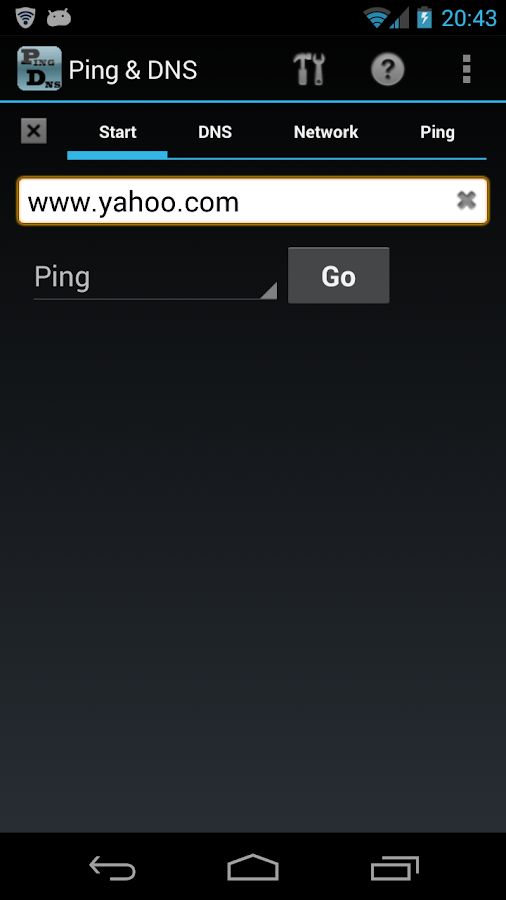 Ping & DNS - screenshot