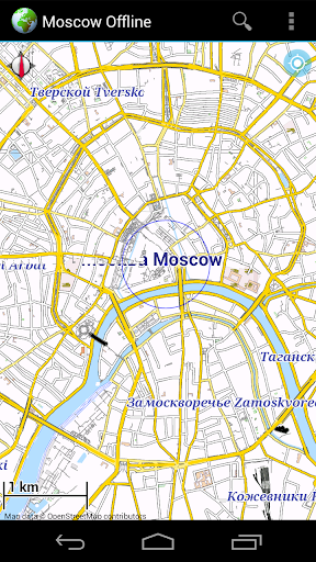 Offline Map Moscow Russia