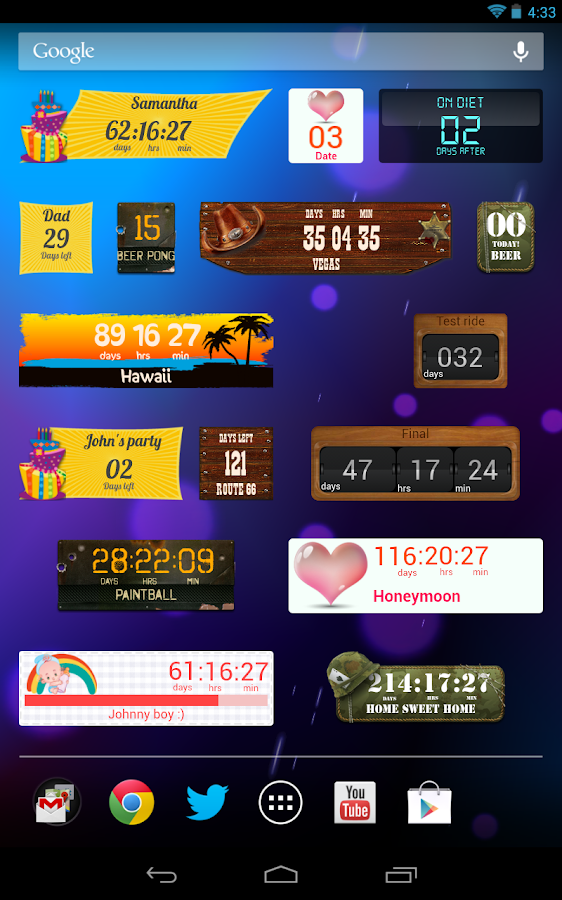 Tagesz 228 Hler Countdown Applikation F 252 R Countdown Android