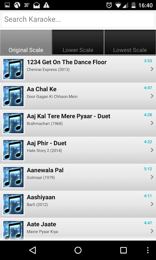 SingerZone Bollywood Karaoke- screenshot