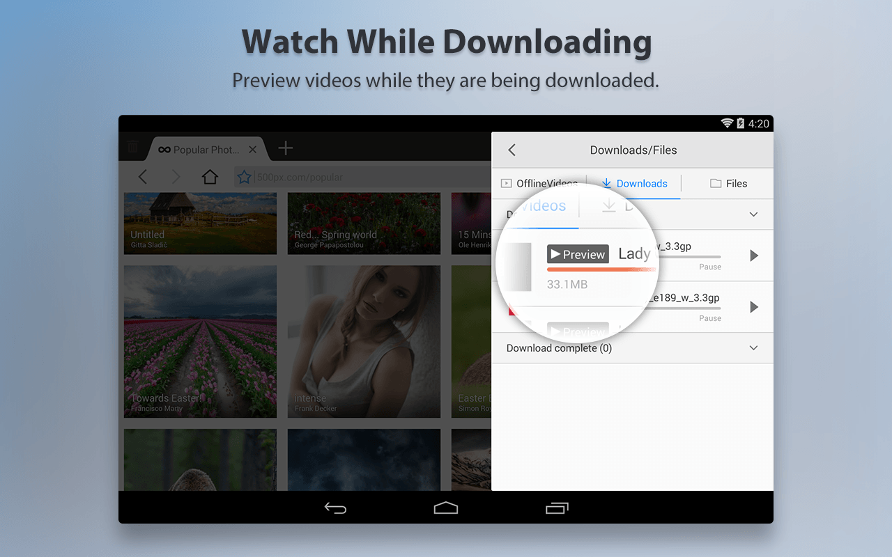 UC Browser HD For Android - screenshot