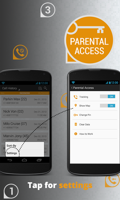 Parental Access - screenshot