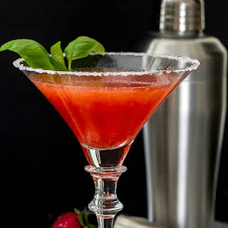 Strawberry Basil Martini.