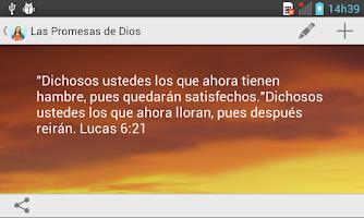 Screenshot of Las Promesas de Dios