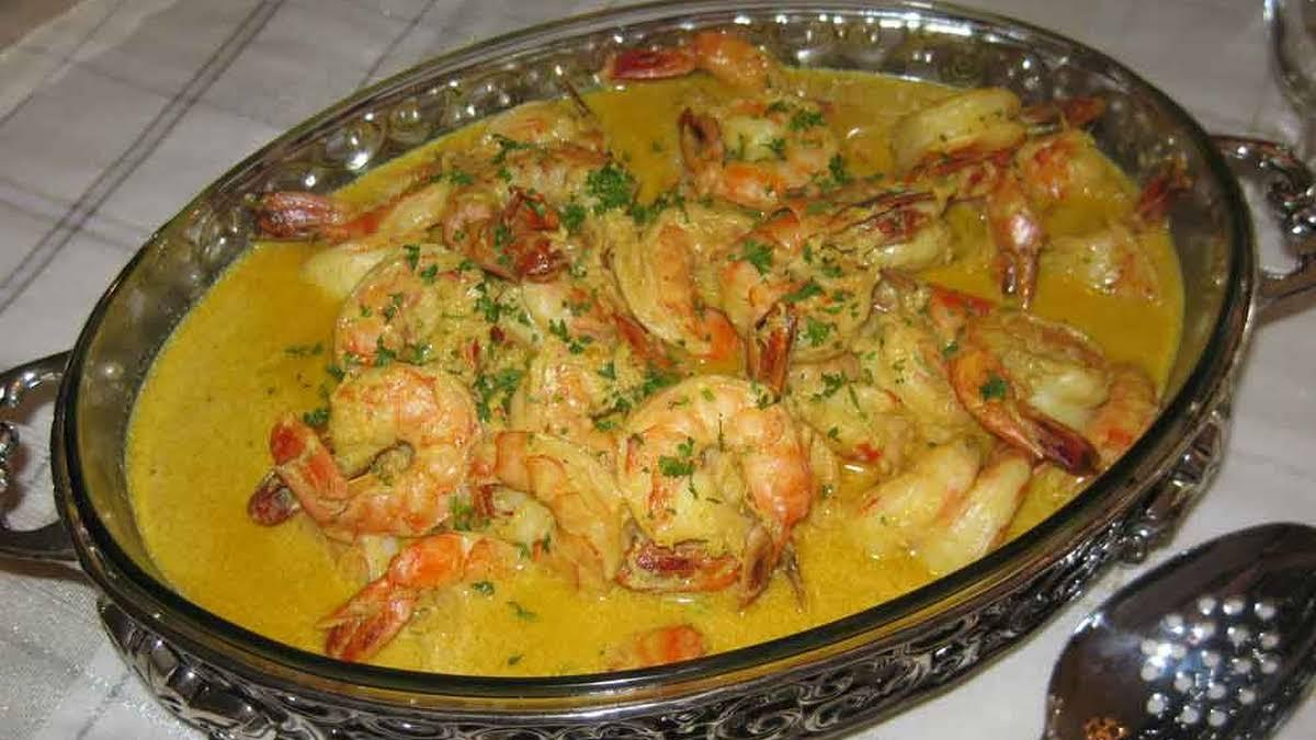 Prawns Shrimp In Curry Sauce