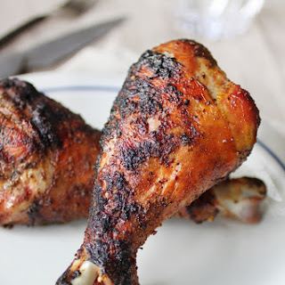 Grilled Turkey Drumsticks.
