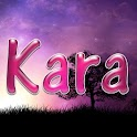 Kara pink sticker logo
