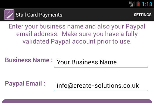 Stall Card Payments