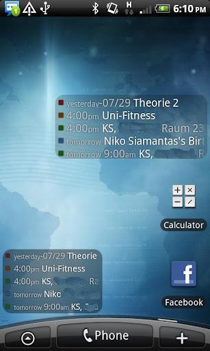 Anton's Calendar Widget