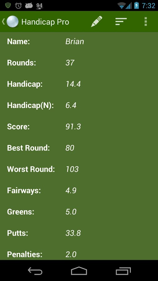 Handicap: Golf Tracker Pro- screenshot