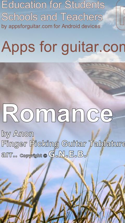 Romance for Guitar - screenshot