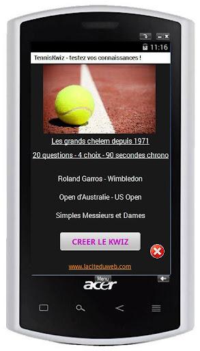 QCM sur le tennis