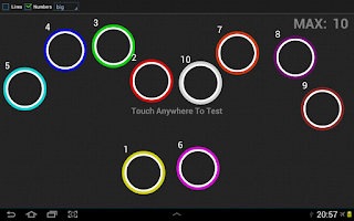 Screenshot of Multi Touch screen tester Free